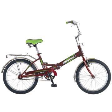 """Велосипед складной Novatrack FS30 20"""" (2016) бордовый"""