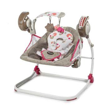 Электрокачели Baby Care Flotter с пультом ДУ (розовые)
