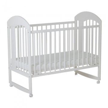 Кроватка детская Gnom Луна (качалка-колесо) (белый)