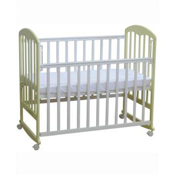 Кроватка детская Фея 323 светлая (качалка-колесо) (Белый-ваниль)