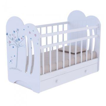 Кроватка детская ВДК Wind Tree (поперечный маятник) (белый)