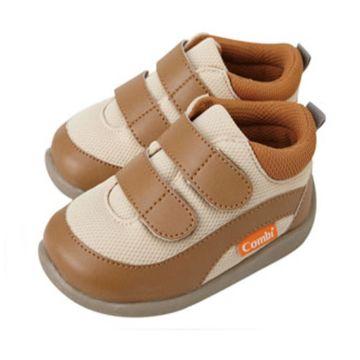 Ботинки Combi Baby Sneakers (кремово-коричневые)