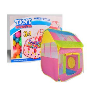 Детская палатка с шарами Yako Дом (Розовый)
