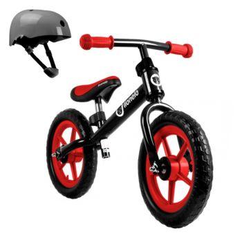 Беговел Lionelo Fin Plus со шлемом безопасности (красный)
