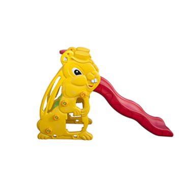 Горка детская с баскетбольным кольцом QiaoQiao Toys (Заяц)