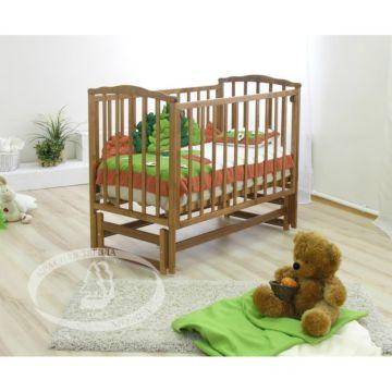 Кроватка детская Можга Кристина (продольный маятник) (красно-коричневый)