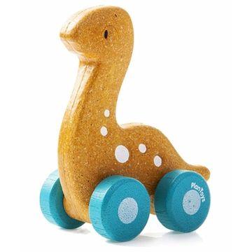 Деревянная машинка PlanToys Динозаврик