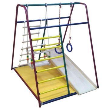 Детский спортивный комплекс Вертикаль Веселый Малыш Mini с фанерной горкой