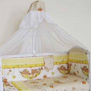Комплект постельного белья Happy Dreams Мишки в гамаке 120х60см (7 предметов, хлопок) (бежевый)