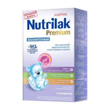 Сухая молочная смесь Nutrilak Premium безлактозный (с 0 мес.) 350 г