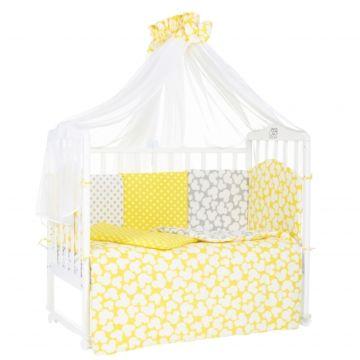Комплект постельного белья Sweet Baby Fiocco Giallo (7 предметов, бязь)