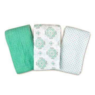 Комплект пеленок Summer Infant Muslin Swaddleme (бирюзовый)