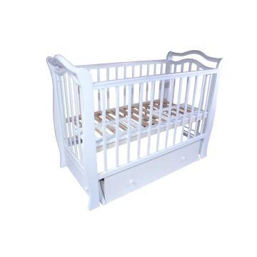 Кроватка детская Valle Toscana с поперечным маятником (белый)