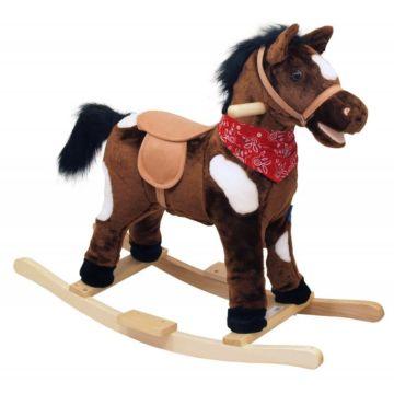 Лошадка-качалка BabyMix Oscar (темно-коричневый, темная грива)