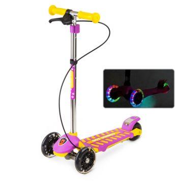 Самокат Small Rider Cosmic Zoo Galaxy Maxi со светящимися колесами (розовый)