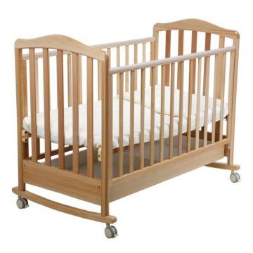 Кроватка детская Papaloni Винни (качалка-колесо) (Орех светлый)