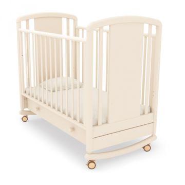 Кроватка детская Angela Bella Жаклин (качалка-колесо) (белая ночь)