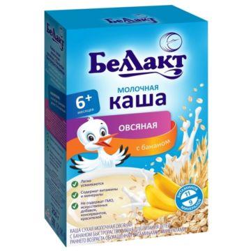 Каша сухая молочная овсяная с бананом Беллакт (с 6 мес.) 250 г