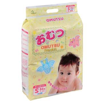 Подгузники Omutsu S (4-8 кг) 84 шт