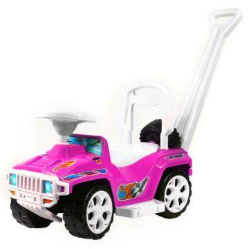 Каталка-автомобиль Molto Race Mini Formula 1 с ручкой (Розовый)