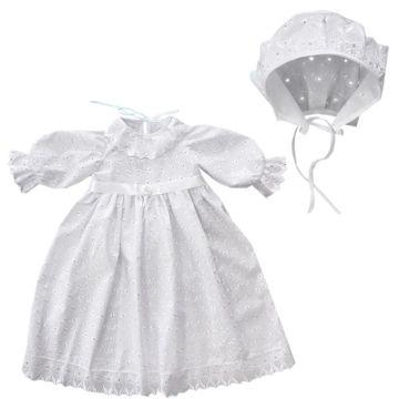 Крестильное платье и чепчик для девочки Little People