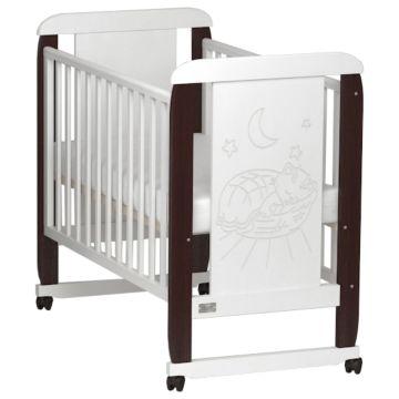 Кроватка детская Kitelli Micio (колеса-качалка) (Венге/Белый)