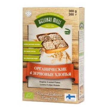 Хлопья Helsinki Mills органические 4-х зерновые 300 г