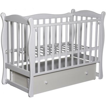 Кроватка детская Антел Северянка 2 (поперечный маятник) белый