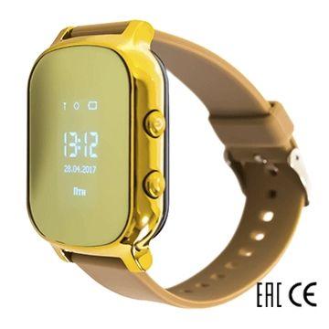 Детские часы с GPS-трекером SmartBabyWatch T58 (золотые)