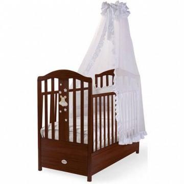 Кроватка детская Feretti FMS Romance (продольный маятник) (орех)