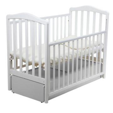Кроватка детская Papaloni Винни (продольный маятник) (Белый)