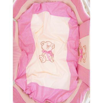 Комплект постельного белья Valle Peekaboo 120х60см (7 предметов, хлопок) розовый