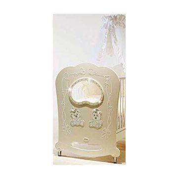 Кроватка детская Feretti Majesty Brilliante (качалка-колесо) (слоновая кость)