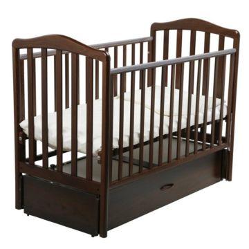 Кроватка детская Papaloni Винни (продольный маятник) (Орех шоколадный)