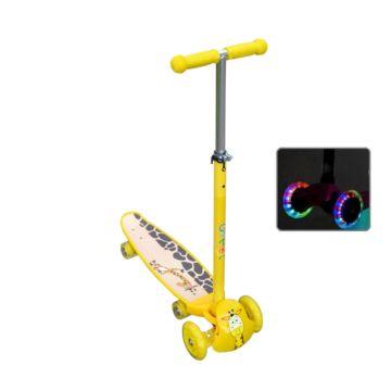 Самокат-скейт Ateox M-3 со светящимися колесами