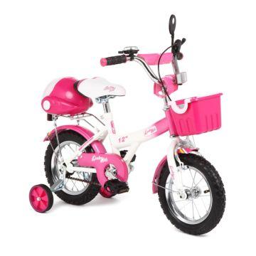"""Детский велосипед Leader Kids 12"""" (Белый/Розовый)"""