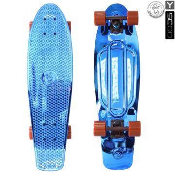 "Мини-круизер Y-Scoo Fish Skateboard Metallic 27"" с сумкой (blue)"