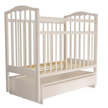 Кроватка детская Агат Золушка-4 (поперечный маятник) с ящиком (Белый)