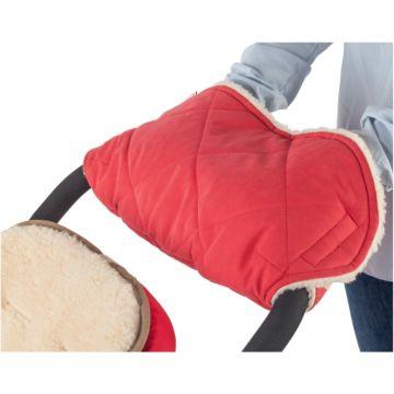 Шерстяная муфта для коляски Mammie (красная)