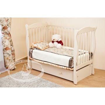 Кроватка детская Можга Уралочка С742 (продольный маятник) (слоновая кость)