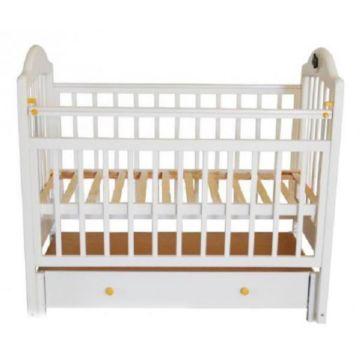 Кроватка детская Briciola 10 с продольным маятником (белая)