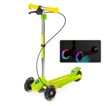 Самокат Small Rider Cosmic Zoo Galaxy Maxi со светящимися колесами (зеленый)