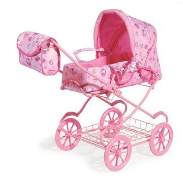 Коляска для куклы Melobo 9338 (Розовый Хелоу Китти)