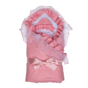 Комплект на выписку демисезонный Alis Елена (6 предметов) (розовый)