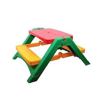 Стол Palplay 376 для пикника (Красно-зеленый)