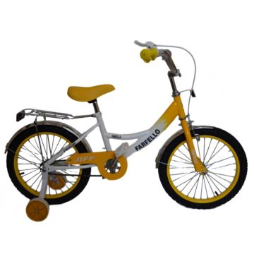 "Детский велосипед Farfello JIFF YF-013 16"" (Бело-желтый)"