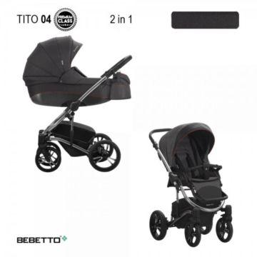 Коляска 2 в 1 Bebetto Tito Premium Class 04_CHR