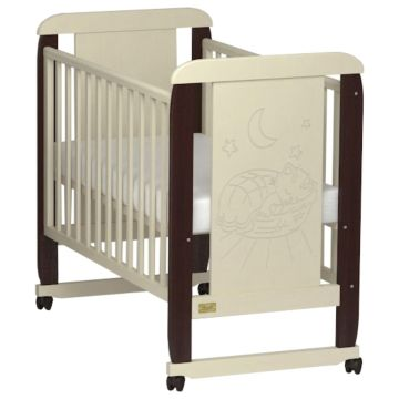 Кроватка детская Kitelli Micio (колеса-качалка) (Бежево-коричневый)