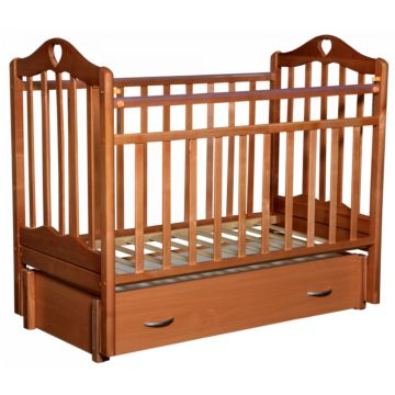 Кроватка детская Антел Каролина 6 (продольный маятник) бук