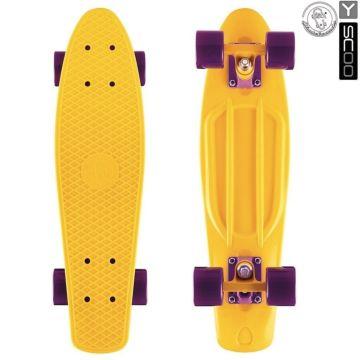 "Мини-круизер Y-Scoo Fish Skateboard 22"" с сумкой (желтый)"